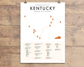 Bourbon trail etsy for Kentucky craft bourbon trail