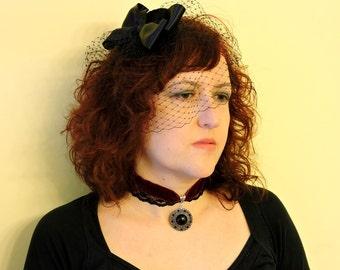 Velvet Choker, Victorian woman choker,Lolita choker, Victorian Wedding Collar, Choker necklace,Choker with pendant,Lace choker,Gothic Choker