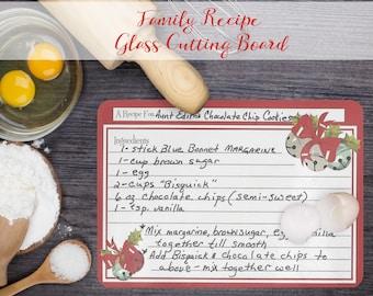 Family Recipe Cutting Board - Handwritten Recipe Cutting Board - Personalized Gift - Gift For ...