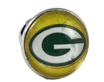 Green Bay Packers Football Drawer Pulls, Cabinet Knobs, Mancave Knobs