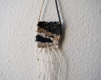 small weaving | fiber art | woven wall hanging | woven wall art | wall weaving | yarn wall hanging