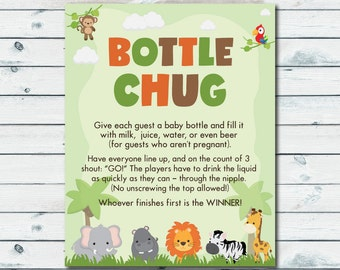 Bottle Chug Game Printable, Drink Up Baby Shower Game, Chugging Contest,  Coed Baby
