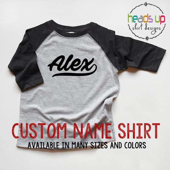 Custom name shirt bodysuit raglan boy girl baseball for Custom raglan baseball shirt