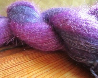 Kid-mohair wool and silk hand dyed