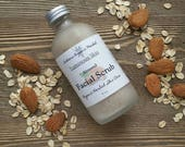 Organic Almond Facial Scrub, Cleansing Grains Face Scrub, Natural Facial Care, Exfoliating Facial, Organic Face Scrub, Organic Skin Care