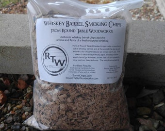 Smoking Chips - Whiskey Barrel Wood Chips - 2 pounds