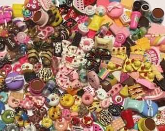 New Pieces Kawaii Cake, Donuts, Doughnuts,  Starbucks, Candy Cabochons Flat Back Scrapbooking, Hair Bows, Embellishments Crafts