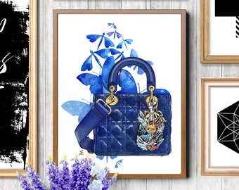 Dior illustration, Dior, Dior sketch, Fashion sketch, Fashion illustration, Dior bag, Christian Dior,Watercolor fashion, Watercolor painting