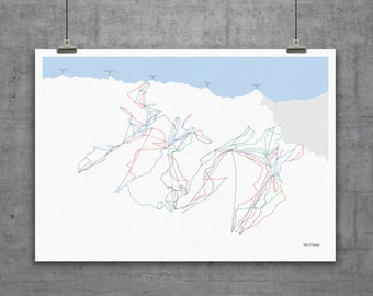 Val D'Isere Piste Map Print A1 or A2
