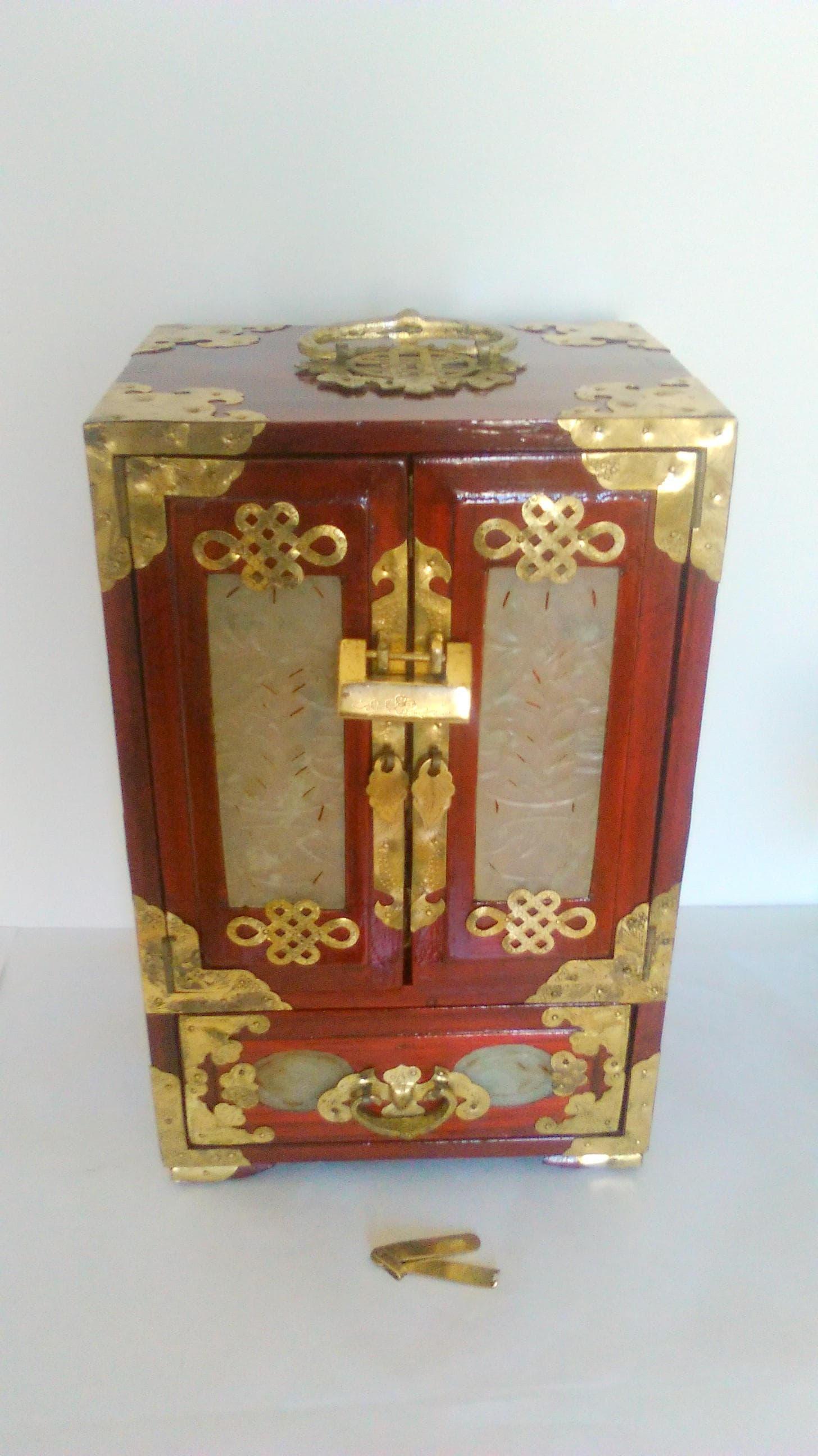 11 chinesische Schmuckschatulle Schmuckkästchen Holz