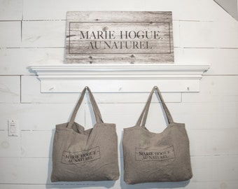 Purchase bag / 100% natural linen