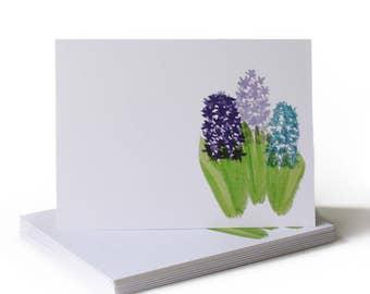 Spring Hyacinth Just Because Greeting Card