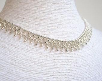Set of jewelry silver, Set of jewelry silver, necklace and bracelet, necklace and bracelet, style Huichol, silver