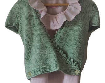 Mint ballet wrap cardigan