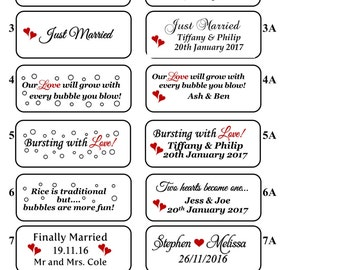 Personalised Clear Bubble Tube Labels in Sheets of 30