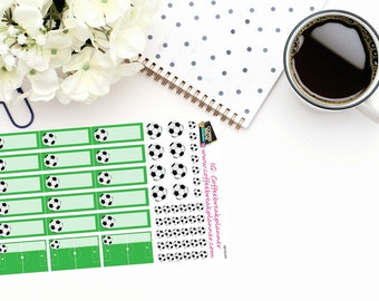 Planner Stickers| Soccer Stickers|Soccer Game Stickers|Soccer Reminder Stickers|For use in various planners and journals| S010-HV