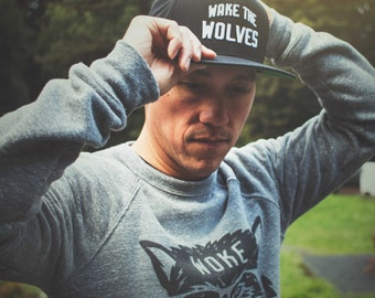 Wake the Wolves Snapback  | Hella Healthy | Plant Based Apparel | Veggie Centric | Kale