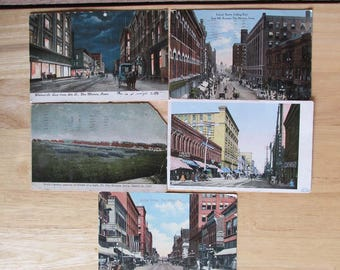 Early 1900s Iowa Postcards, Historic Des Moines, Vintage Collectibles, Made in USA
