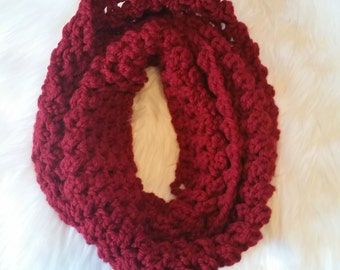 Infinity crocheted scarf