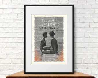 Tender is the Night by F. Scott Fitzgerald. Book Cover Art Print