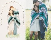 CUSTOM Watercolor Portrait, Watercolor, Family Portrait, anniversary, wedding, graduation, watercolor family, watercolor portrait