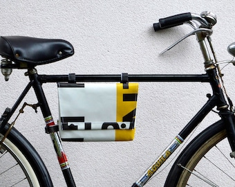 Frame and handlebar bike bag//3BaGo//bike bag waterproof//eco design bike friendly//cruelty free//passion for cycling