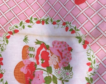 Vintage Strawberry Shortcake material fabric