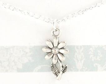 Daisy Necklace -  Daisy Jewellery - Daisy Pendant - Silver Daisy Necklace - Necklace