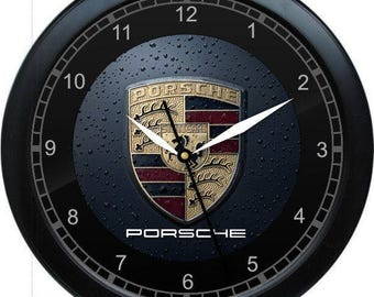 Porsche Wall Clock Garage Work Shop Gift Father's Day Man Cave Rec Room
