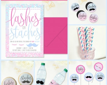 Lashes or Staches Paper Straws