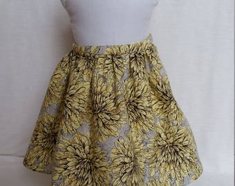 American Girl Skirt With Yellow Flowers