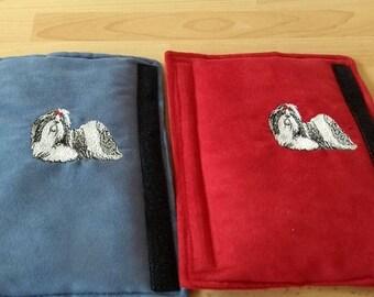 Embroidered Shuh-Tzu Seat belt Pads