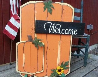 Fall Sign - Pumpkin Sign - Pumpkin Patch Sign - Fall Decor - Pallet Wood Sign - Hand Painted - Housewarming Gift - Pumpkin Patch Sign