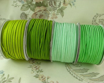 SOUTACHE braid - 3m, great quality chunky nylon soutache for soutache embroidery. 3 meters. Pick a color: greens here