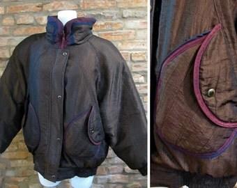 Vintage Jacket • 80s Ski Jacket • Large Brown Puffy Jacket • Down Winter Coat • 80s Oversized Jacket • 80s Puffer Jacket • Retro Ski Coat
