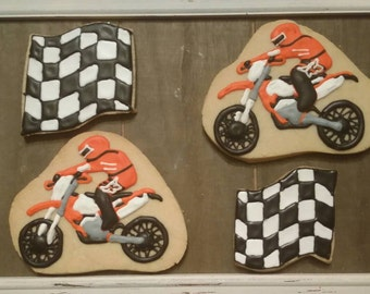 Motorcycle - Dirt Bike - Motocross Cookies