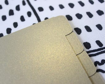 Planner Dividers - Gold Leaf in Pocket and Personal Size