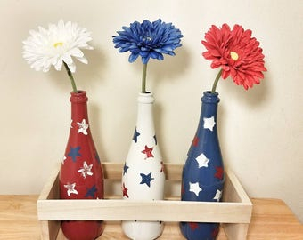 Fourth of July, Patriotic Decor, Patriotic Decorations, Patriotic Centerpiece, American Flag, Memorial Day Decor, Independence Day, BBQ