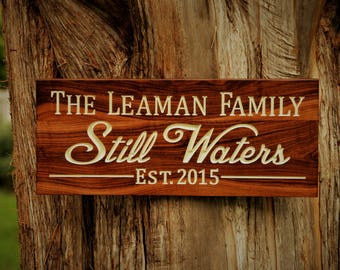 Lake House Sign Outdoor Wood Signs, Lake Home Gifts, Personalized Lake Sign Family Name, Lake Home Sign, Outdoor Sign Wood Wooden Lake Signs