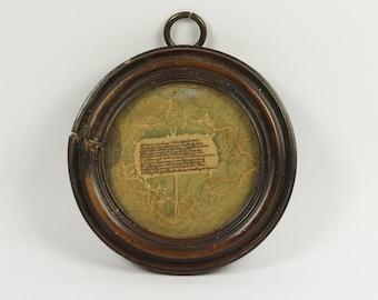 Antique 18th Century Pocket Watch Paper Papercut Scherenschnitte Cut Paper Circa 1790s AF Georgian