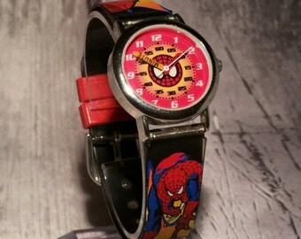 Spiderman Watch. Spiderman. Boys Watch. Spiderman Birthday. Marvel. Spider man. Marvel Watch. Superhero. Superhero Watch. Childs Watch.