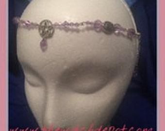 Purple Goddess Pentacle Circlet