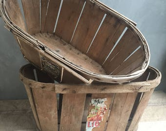 Lot of 2 old greengrocer crates