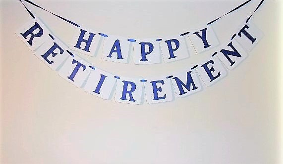 happy retirement banner retirement banner retirement sign