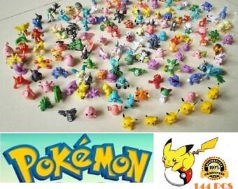 Pokemon Mini 144 PCS Set HOT Mini Action Figures Pokémon Go Toy Gift Set