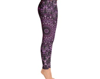 Graphic Print Workout Pants - Hooping Leggings, Performance Wear, Festival Clothing