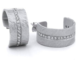 Silver Earrings With Cubic Zirconia's