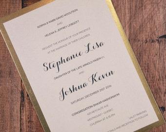 New Years Wedding Invitation, New Years Invitation, New Years Wedding Invitations, New Years Invitations, Gold Foil Invitation, Invitation
