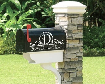 Set Of Custom Mailbox Address Vinyl Decal Stickers Mail Box - Custom vinyl decals numbers