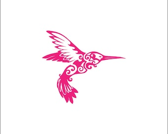 Hummingbird vinyl decal, nature decal, cute girly yeti tumbler vinyl sticker, unique animal decal, bird decal, car decal sticker, whimsical